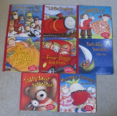 Lot Of 8 Children's Nursery, Rhyme, And Sing-Along Brolly Books Nice!