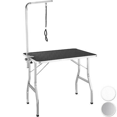 Height-Adjustable Grooming Table with Arm Dogs Cats Pets Multifunctional Steel
