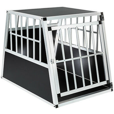 Aluminium dog pet cage transport crate car travel carrier box 66x90x69,5 cm new