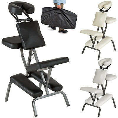 PORTABLE FOLDING MASSAGE TATTOO CHAIR THERAPY BEAUTY STOOL ADJUSTABLE new