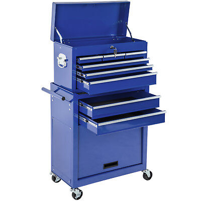Tool cabinet cart workshop wheel trolley mechanic Removable mobile case blue new