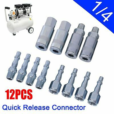12PCS Air Line Hose Compressor Fitting Coupling Connector Quick Release 1/4BSP