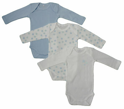 Name It 3er SET BODY Baby Kinder Jungen Bodys Einteiler langarm Unterwäsche blau