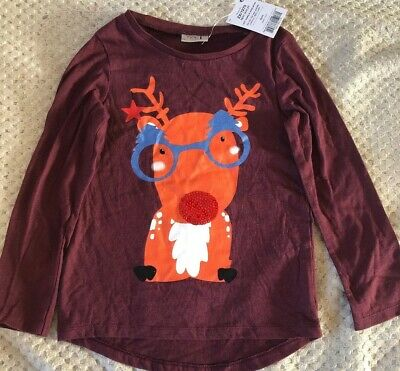 BNWT Girls Christmas Top Age 5 Years From next
