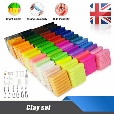 50 Mixed Color Set Bake Oven Polymer Soft Clay Moulding Modelling DIY Toys Gifts