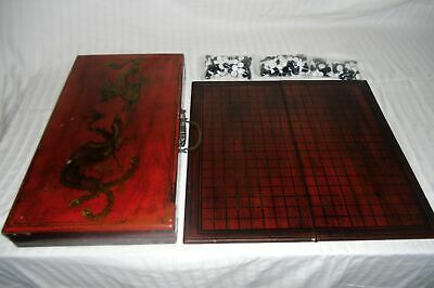 Vintage Asian Go Board Game With Dragon Case(100)