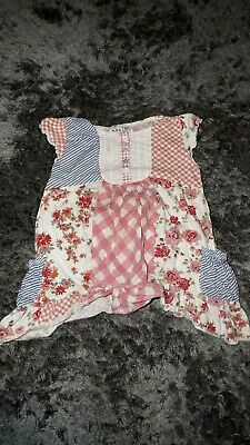 Next Girls toddler pretty floral pink dress top patchwork outfit age 3 years