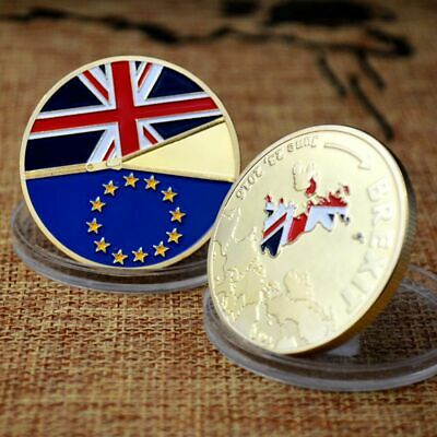 United Kingdom Brexit Commemorative Coin Collection Gold Silver Plated Coin UK
