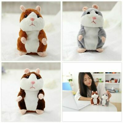 Talking Hamster Repeat Sound Gift Kid Plush Record Toys Mouse Cute Pet Fast Ship