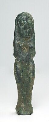 Ancient Western Asiatic Bronze Naked Fertility Figurine - 2nd Millennium BC
