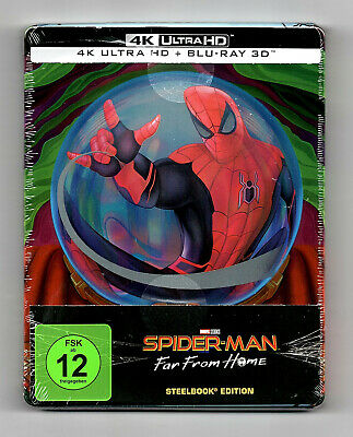 Spider-Man Far From Home Steelbook 4K UHD + 3D Blu-ray NEU & OVP