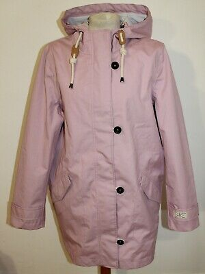 Lilac Joules Coast Mid Waterproof Cotton Canvas Coat - size 14 and BNWOT