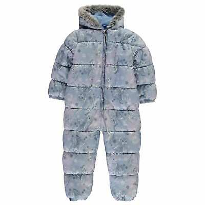 Character Frozen Padded Snowsuit Infants Girls Snowsuits Hooded Zip Winter Warm