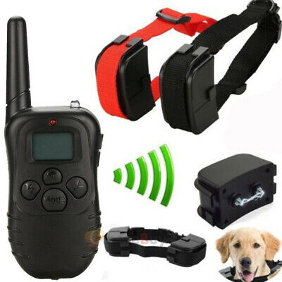 2 Dog Shock Collar W/ Remote Waterproof Electric for 1000 Yard Pet Training