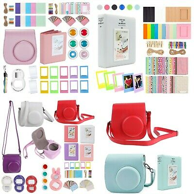 Fujifilm Instax Mini 9 Case Bag + Album Photo Frames Lens Fiter Accessories Kit