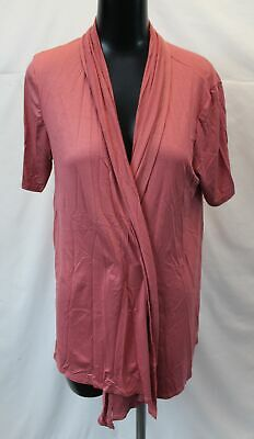 MOA Collection Women's Long Sleeve Solid Open Front Cardigan SH3 Pink Size 2XL