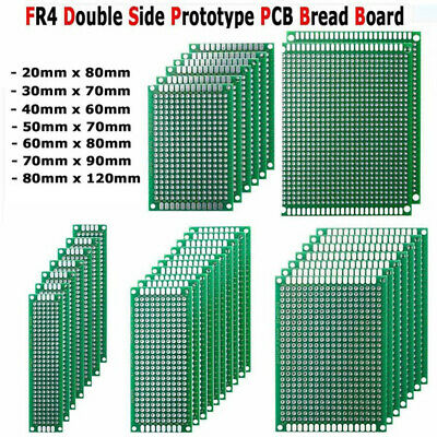 FR4 Protoboard DIY Prototype Printed Circuit Board Double Side Breadboard PCB
