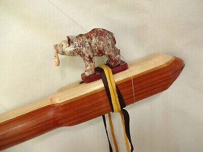 Hand Crafted Native American Style Flute, Bear Flute, New