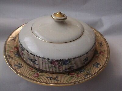 Antique Vintage Ceramic Cheese Dish/Butter Dish  KT&K S-----V CHINA P.F.L. Large