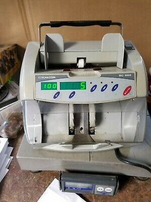 Scan Coin SC 865 Electronic Money Banknote Currency Bill Counter Works