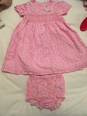 Jojo Maman Bebe Pink 2-part Party Dress 6-12 Months