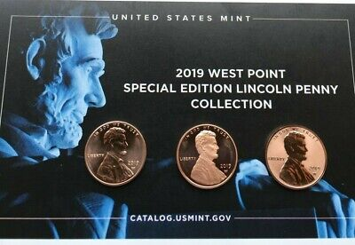 2019 W UNCIRCULATED,PROOF, REVERSE PROOF.Lincoln Cent Penny  Set of Three