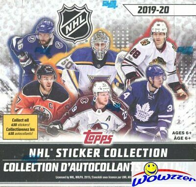 2019/20 Topps Hockey MASSIVE 50 Pack Factory Sealed Sticker Box-250 Stickers
