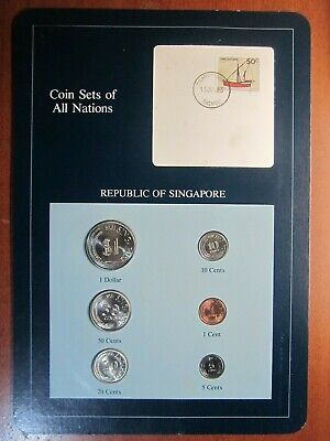 Coin Sets of All Nations Singapore UNC 1981
