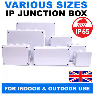 Junction Box IP65 Waterproof Enclosure Terminal Electric Cable Wire Outdoor Grey