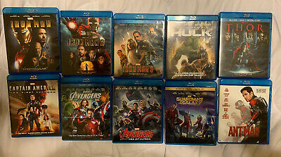 Marvel 10 Movies Blu-ray Set