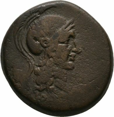 Ancient Greece 2 Cent.BC MYSIA PERGAMON ATHENA HELMET WINGS NIKE PALM