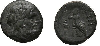 Ancient Greece 2-1 Cent BC THESSALY PERRHAIBOI HERA ZEUS THRONE