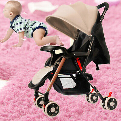 3in1 Lightweight Compact Fold Baby Stroller Pram Pushchair Travel Carry On