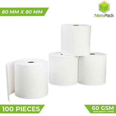 100X Thermal Paper Cash Register Receipt rolls 80x80mm EFTPOS POS Roll Bulk