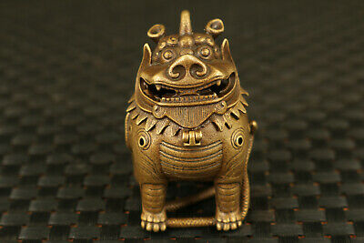 chinese bronze casting lion statue collectable home decor