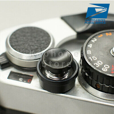 Black Concave Metal Soft Shutter Release Button For Fujifilm X100 Leica M3 M6
