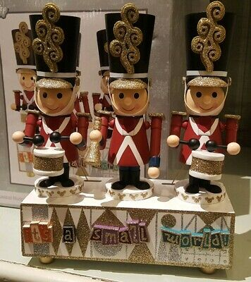 Disney Parks It's a Small World Musical Nutcracker Animated Christmas Figure NEW