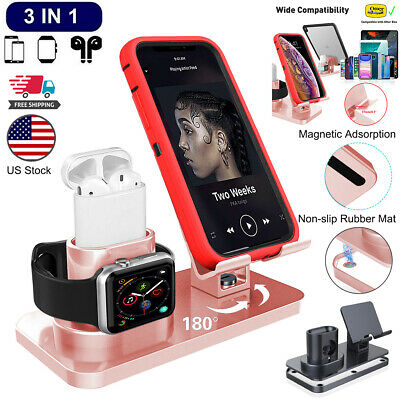 3in1 Universal Charging Dock Station Holder Stand For iPhone AirPods Apple Watch