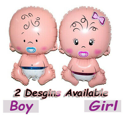 Baby Shower Shape Boy Girl Unisex Latex Foil Balloons Decorations Bunting Props
