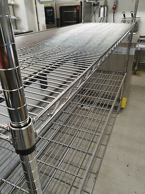 Chrome Wire Shelving Heavy Duty Kitchen Storage Commercial Adjustable Racking