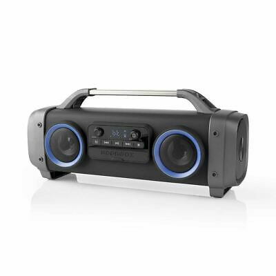 Battery Powered Portable Stereo Ghetto Speaker with Bluetooth USB & Lights 60w