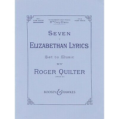 Roger Quilter 18 Songs for Voice and Piano Voice NEW 048012254