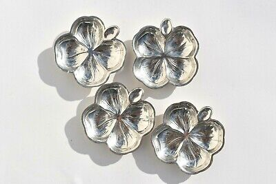 4 Fine Antique Lenox Sterling Silver Candy/Nut Dishes Clover Leaf Pattern