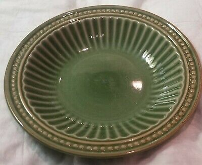 Gibson Everyday REGENT PARK GREEN Soup Cereal Bowl 8 5/8""
