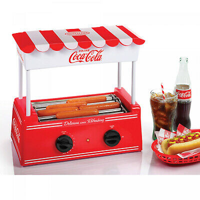 Nostalgia Coca-Cola Hot Dog Roller And Bun Warmer Food Cooker Electric Retro