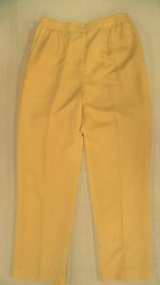 Alfred Dunner Call of the Wild Misses Womens Pleated Casual Pants SZ 8 Banana US