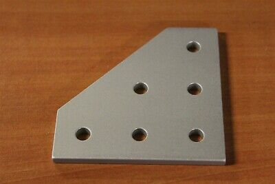 8020 Inc Aluminum 6 Hole - 90 Degree Flat Plate 10 Series #4061 D3-01