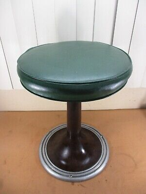 Vintage Swivel Dime Store & Diner Soda Parlor Counter Stool with Metal Base  (B)