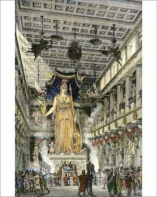 "10""x8"" (25x20cm) Print Statue of Athena in the Parthenon of ancie..."