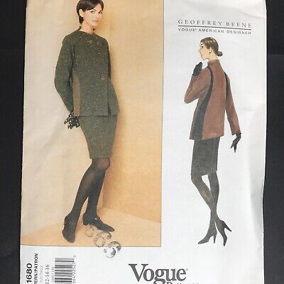 Vintage Vogue Sewing Pattern 1680 Size 12 14 16 Geoffrey Beene Work Jacket Skirt
